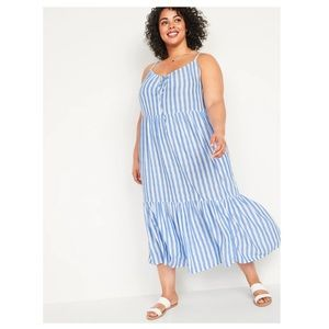 NWT! Old Navy Tiered Tie-Front Maxi Swing Dress 2X